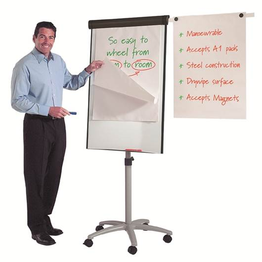 Picture of Buzzard Mobile Flipchart Easel