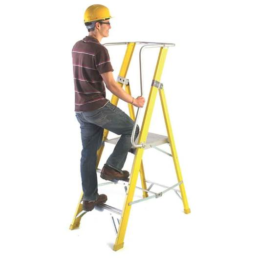 Picture of Glass Fibre Steps with Large Working Platform