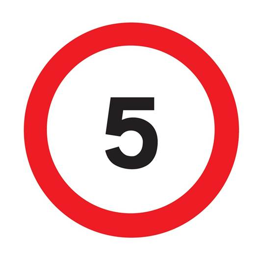 Picture of 5 MPH Limit Sign
