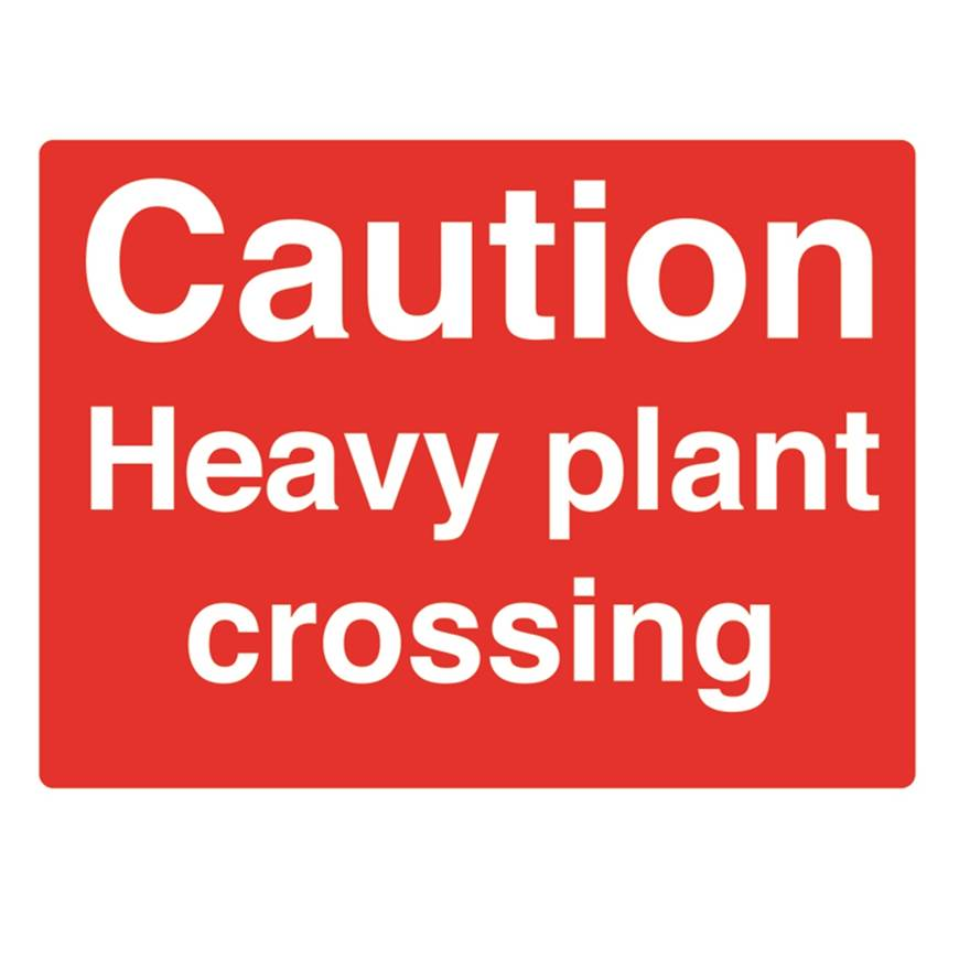 Picture of Caution Heavy Plant Crossing Sign