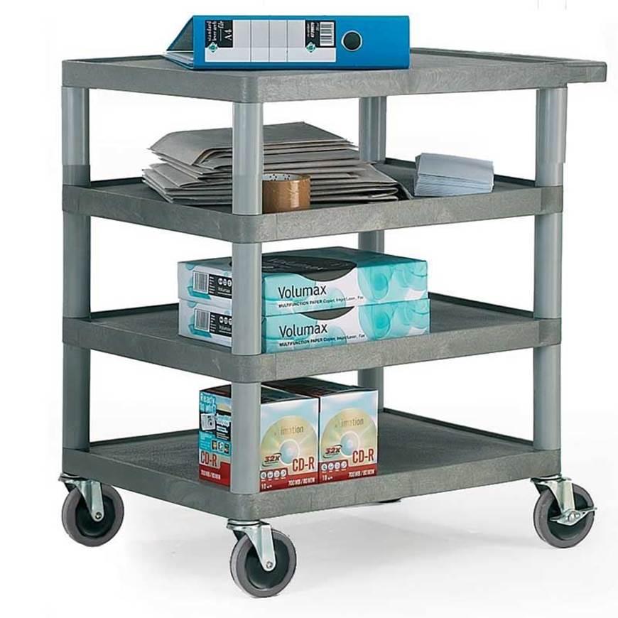 Picture of Standard Grey 4 Shelf Trolley