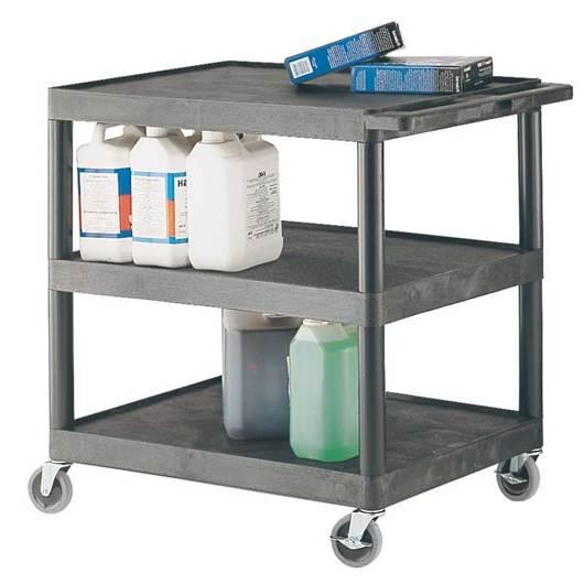 Picture of Plastic Multi-Purpose 3 Shelf Trolley